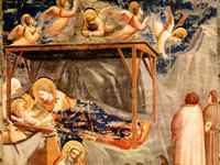 Giotto di Bondone - Nativity Birth of Jesus. Kaplica Scrovegnich w Padwie. Rok 1303-1305. Giotto rulez!!!!!!